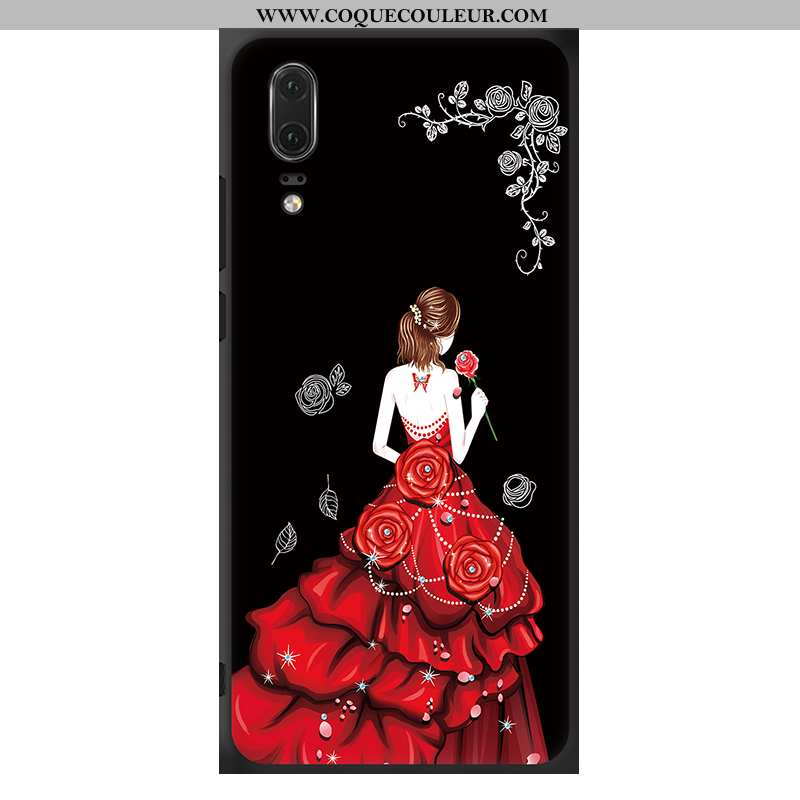 Housse Huawei P20 Protection Téléphone Portable Fluide Doux, Étui Huawei P20 Ornements Suspendus Sil