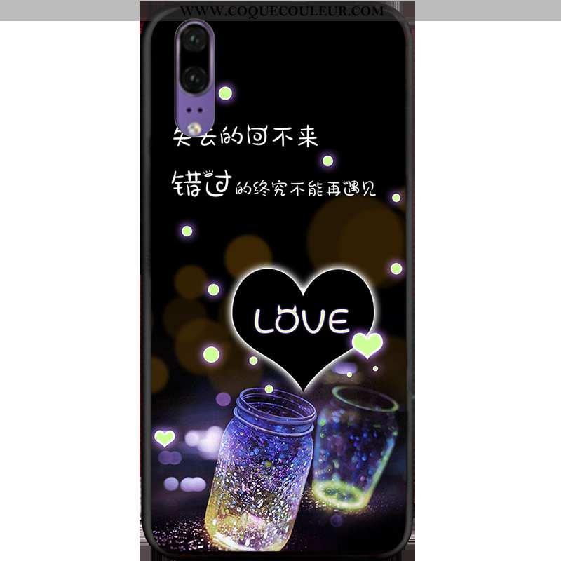 Housse Huawei P20 Délavé En Daim Téléphone Portable Fluide Doux, Étui Huawei P20 Personnalité Tout C