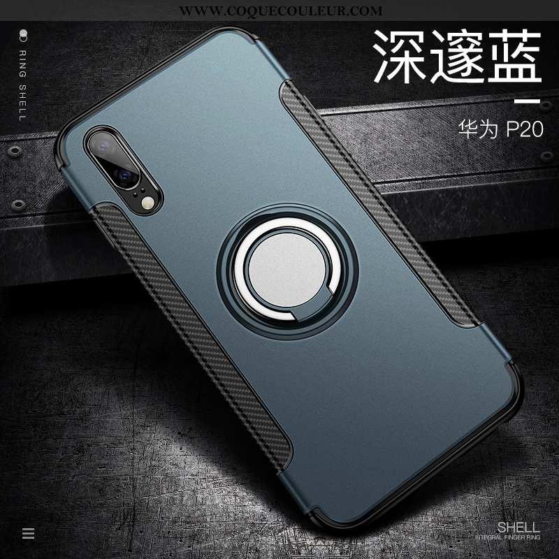Housse Huawei P20 Créatif Étui Protection, Huawei P20 Tendance Téléphone Portable Bleu Foncé