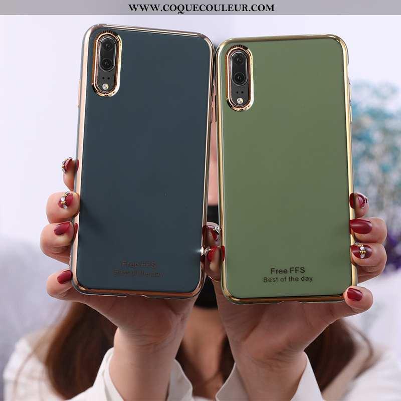 Housse Huawei P20 Fluide Doux Coque Vert, Étui Huawei P20 Protection Turquoise