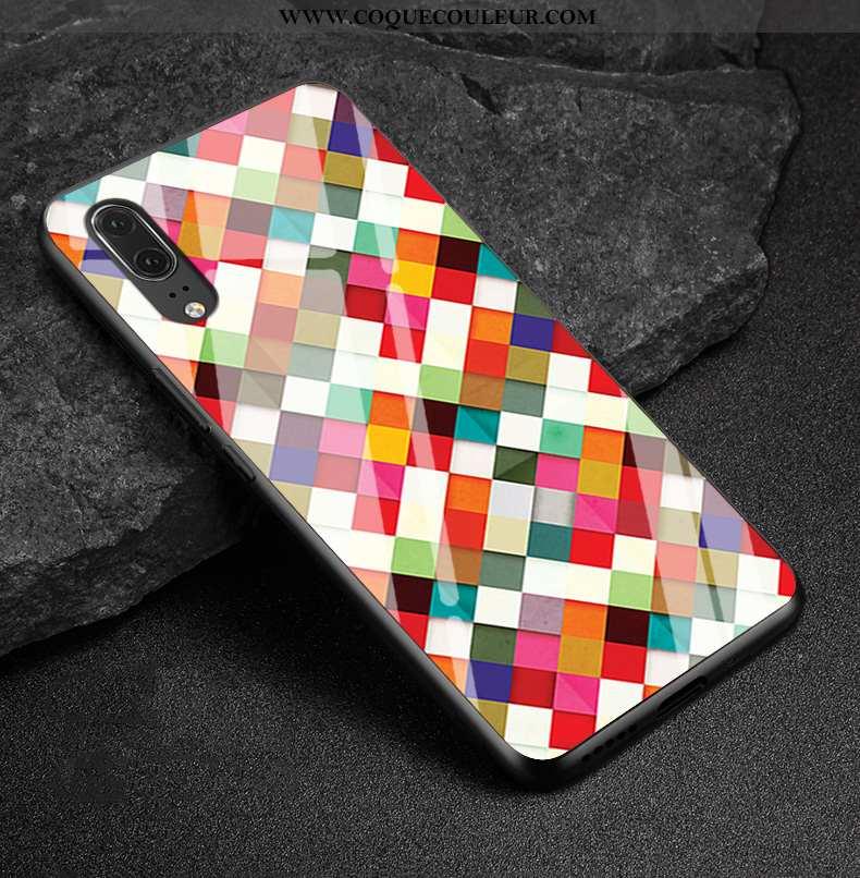 Étui Huawei P20 Mode Coque Cuir Véritable, Huawei P20 Protection Multicolore Coloré