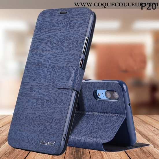 Étui Huawei P20 Silicone Coque Téléphone Portable, Huawei P20 Protection Housse Bleu Foncé
