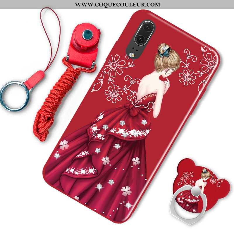 Housse Huawei P20 Protection Coque Mode, Étui Huawei P20 Tendance Rose