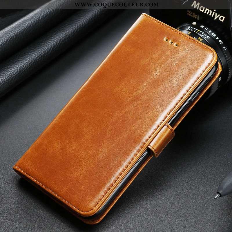 Housse Huawei P20 Cuir Véritable Magnétisme, Étui Huawei P20 Grand Téléphone Portable Jaune