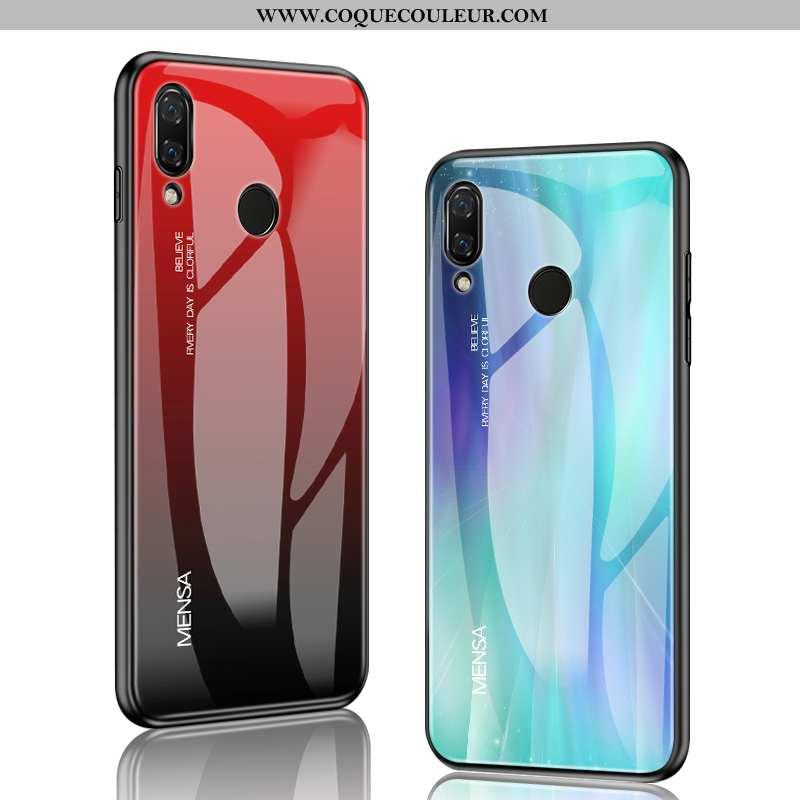 Étui Huawei P20 Lite Verre Vent Coque, Coque Huawei P20 Lite Personnalité Rouge