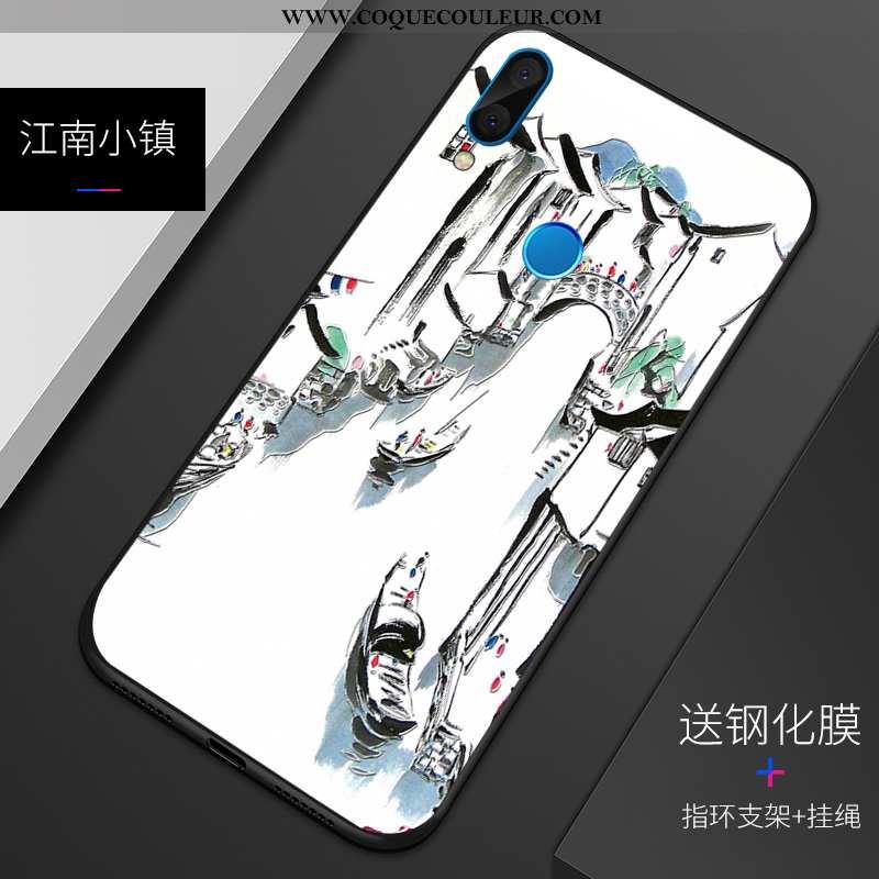 Étui Huawei P20 Lite Silicone Téléphone Portable Blanc, Coque Huawei P20 Lite Protection Personnalit