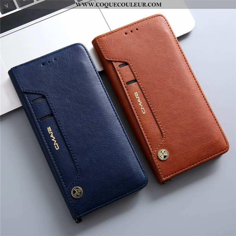 Étui Huawei P20 Lite Cuir Véritable Tout Compris Téléphone Portable, Coque Huawei P20 Lite Cuir Bleu