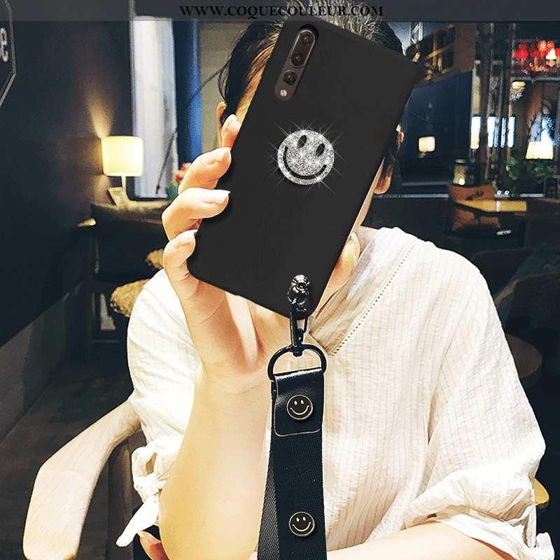 Housse Huawei P20 Pro Protection Silicone Tendance, Étui Huawei P20 Pro Ultra Noir