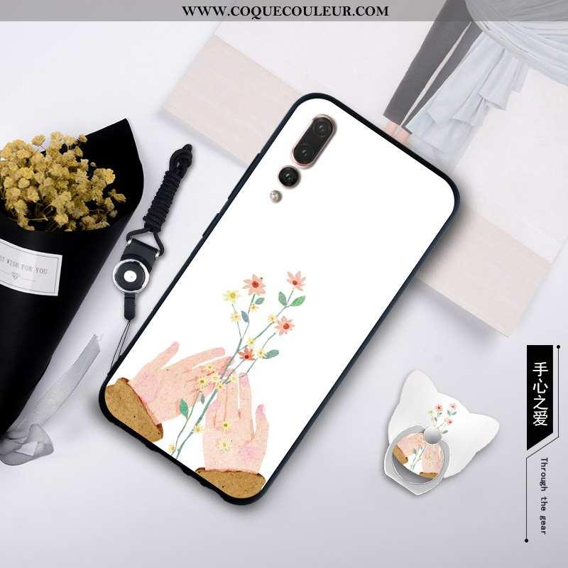Coque Huawei P20 Pro Silicone Créatif Étui, Housse Huawei P20 Pro Protection Blanche