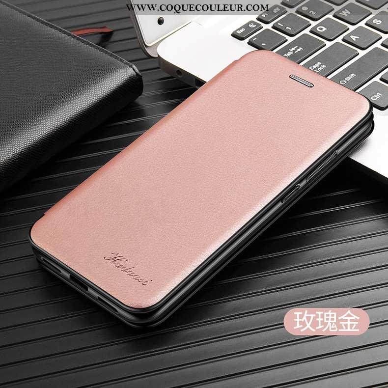 Coque Huawei P20 Pro Cuir Téléphone Portable Étui, Housse Huawei P20 Pro Protection Rose