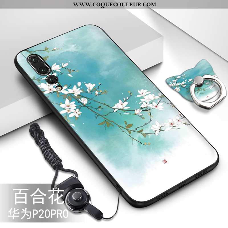Coque Huawei P20 Pro Fluide Doux Incassable, Housse Huawei P20 Pro Silicone Vert Turquoise