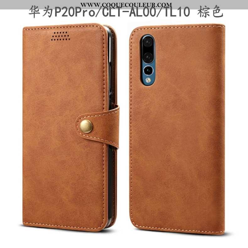 Coque Huawei P20 Pro Protection Téléphone Portable Tout Compris, Housse Huawei P20 Pro Cuir Incassab