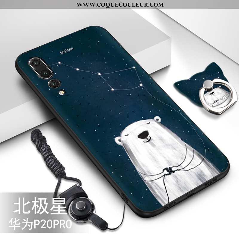 Coque Huawei P20 Pro Fluide Doux Dessin Animé Créatif, Housse Huawei P20 Pro Protection Ornements Su