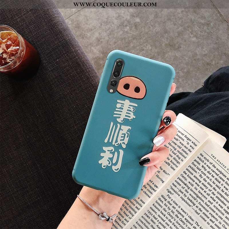 Housse Huawei P20 Pro Dessin Animé Créatif Incassable, Étui Huawei P20 Pro Ultra Mode Bleu