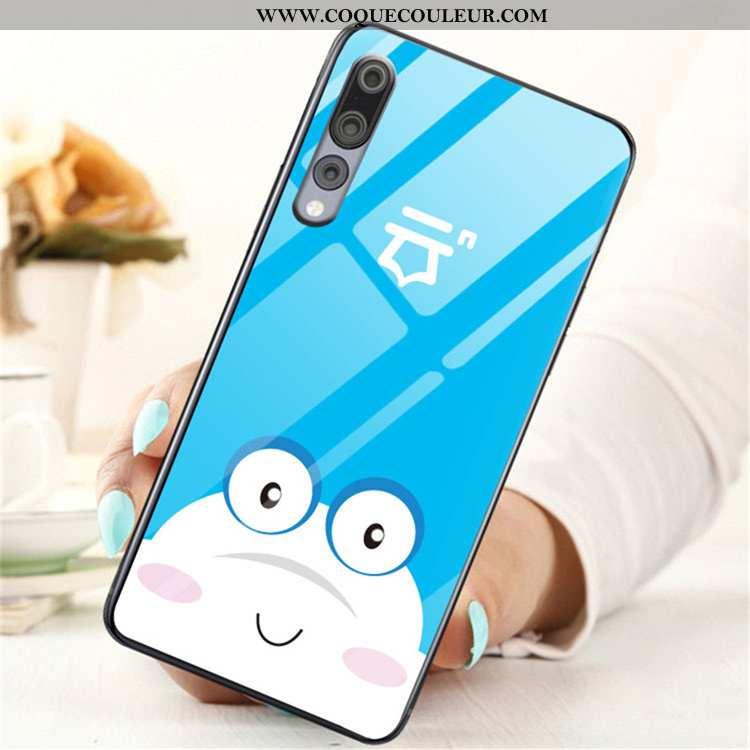 Étui Huawei P20 Pro Protection Tendance Tout Compris, Coque Huawei P20 Pro Verre Incassable Bleu