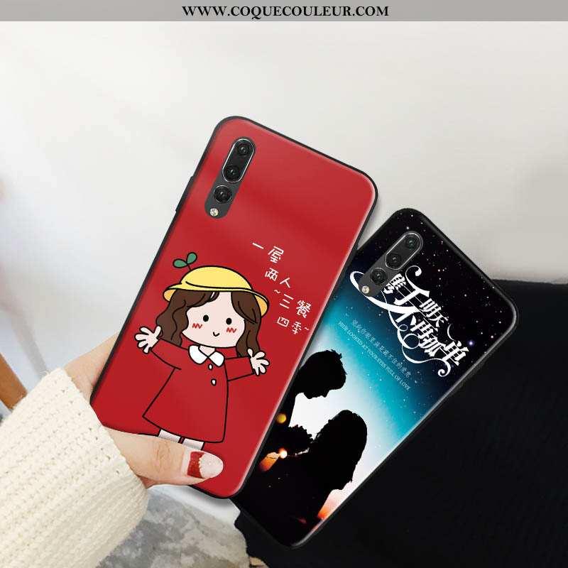 Étui Huawei P20 Pro Mode Tout Compris, Coque Huawei P20 Pro Protection Dessin Animé Rouge
