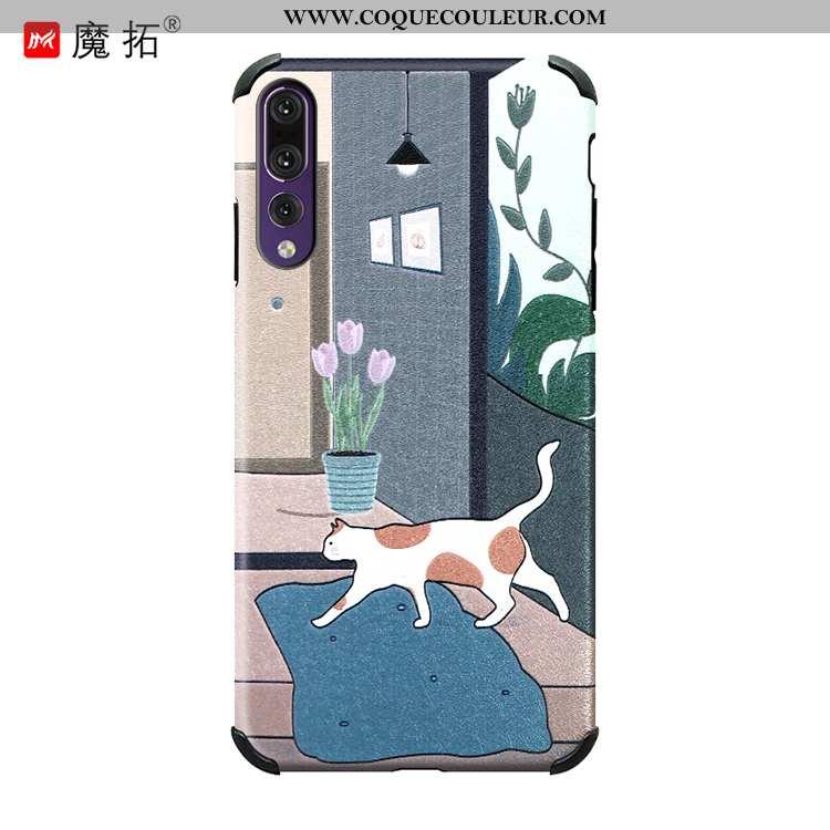 Coque Huawei P20 Pro Fluide Doux Étui Coque, Housse Huawei P20 Pro Protection Téléphone Portable Ble