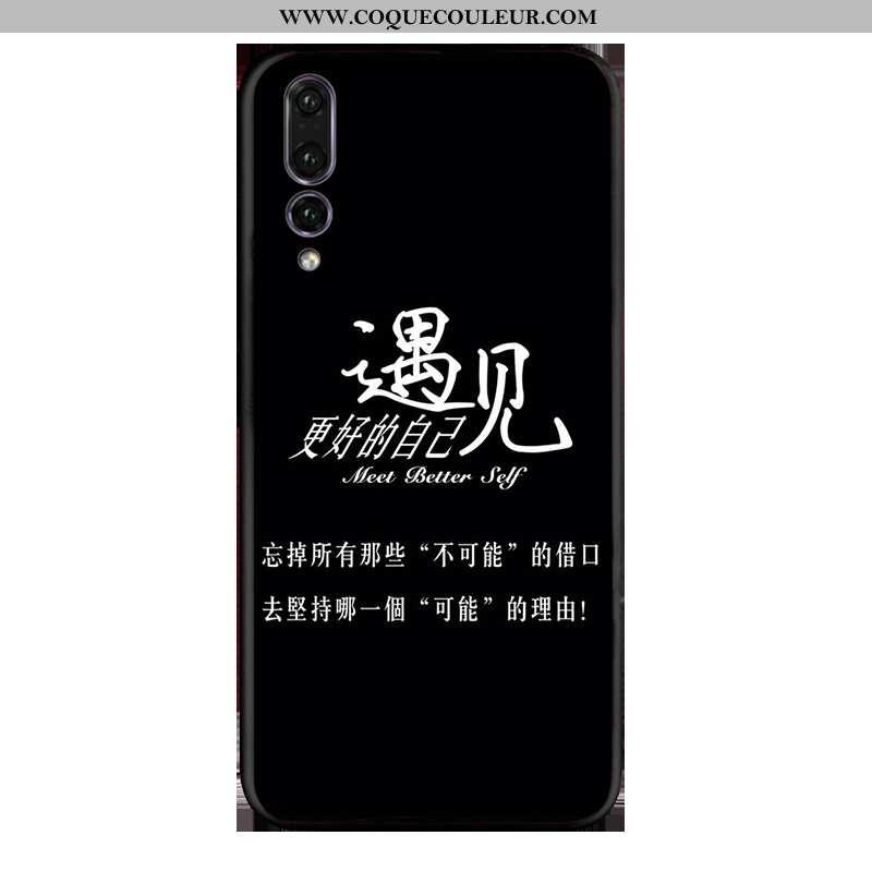 Housse Huawei P20 Pro Délavé En Daim Coque Noir, Étui Huawei P20 Pro Fluide Doux Incassable Noir