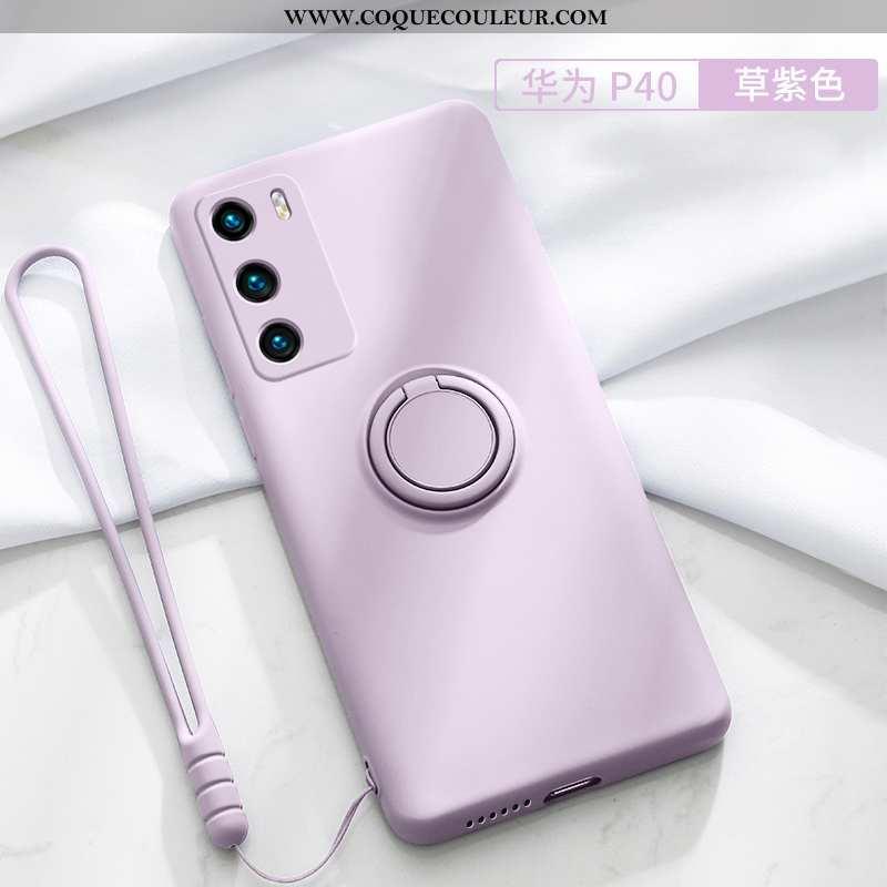 Housse Huawei P30 Légère Vent Tendance, Étui Huawei P30 Silicone Frais Rose