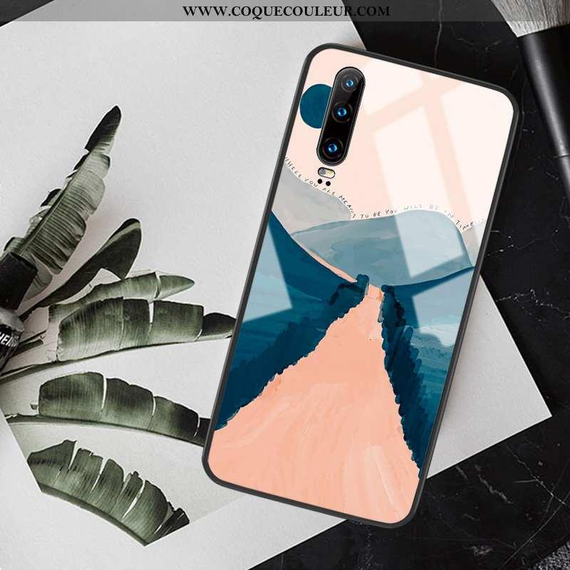 Housse Huawei P30 Tendance Tout Compris Téléphone Portable, Étui Huawei P30 Silicone Peinture À L'hu