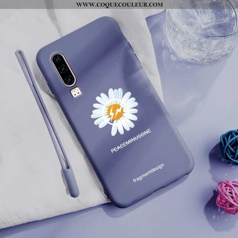 Coque Huawei P30 Tendance Téléphone Portable Simple, Housse Huawei P30 Légère Incassable Bleu