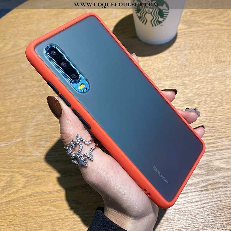 Housse Huawei P30 Protection Silicone Tout Compris, Étui Huawei P30 Délavé En Daim Amoureux Orange