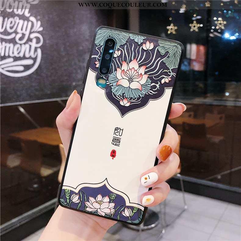 Étui Huawei P30 Silicone Incassable Luxe, Coque Huawei P30 Accessoires Tendance Blanche