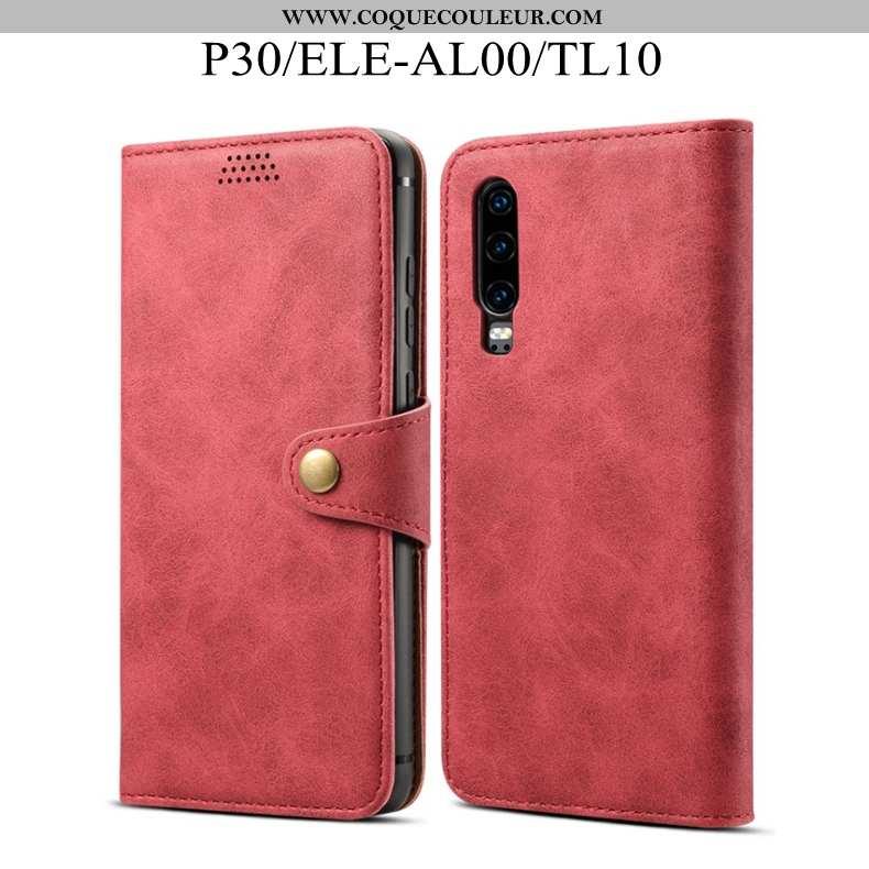 Coque Huawei P30 Fluide Doux Incassable Rouge, Housse Huawei P30 Protection Rouge