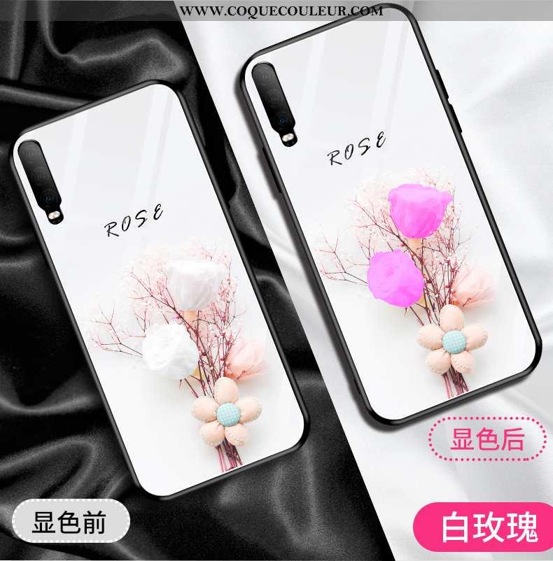 Étui Huawei P30 Verre Incassable, Coque Huawei P30 Personnalité Créatif Rose