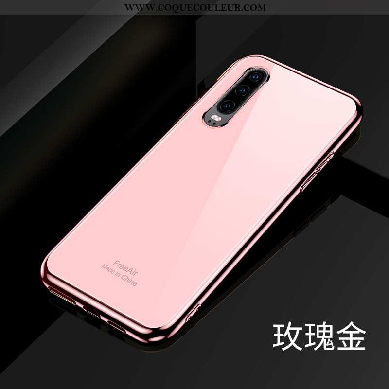 Étui Huawei P30 Légère Ultra Personnalité, Coque Huawei P30 Silicone Incassable Rose