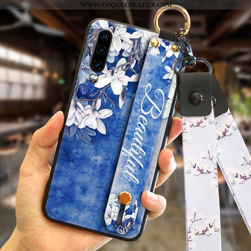 Étui Huawei P30 Protection Tout Compris Mode, Coque Huawei P30 Personnalité Incassable Bleu Foncé