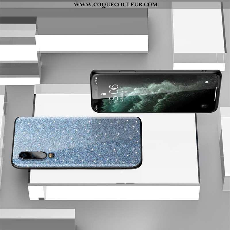 Étui Huawei P30 Personnalité Bleu, Coque Huawei P30 Créatif Téléphone Portable Bleu