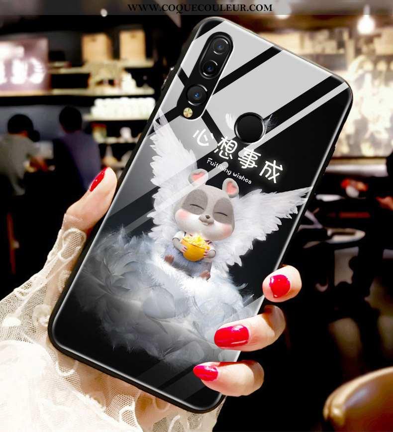 Housse Huawei P30 Lite Xl Fluide Doux Nouveau Rat, Étui Huawei P30 Lite Xl Silicone Tendance Noir