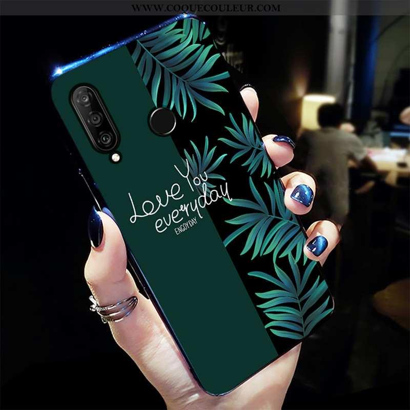 Étui Huawei P30 Lite Xl Personnalité Vert Tendance, Coque Huawei P30 Lite Xl Créatif Net Rouge Verte