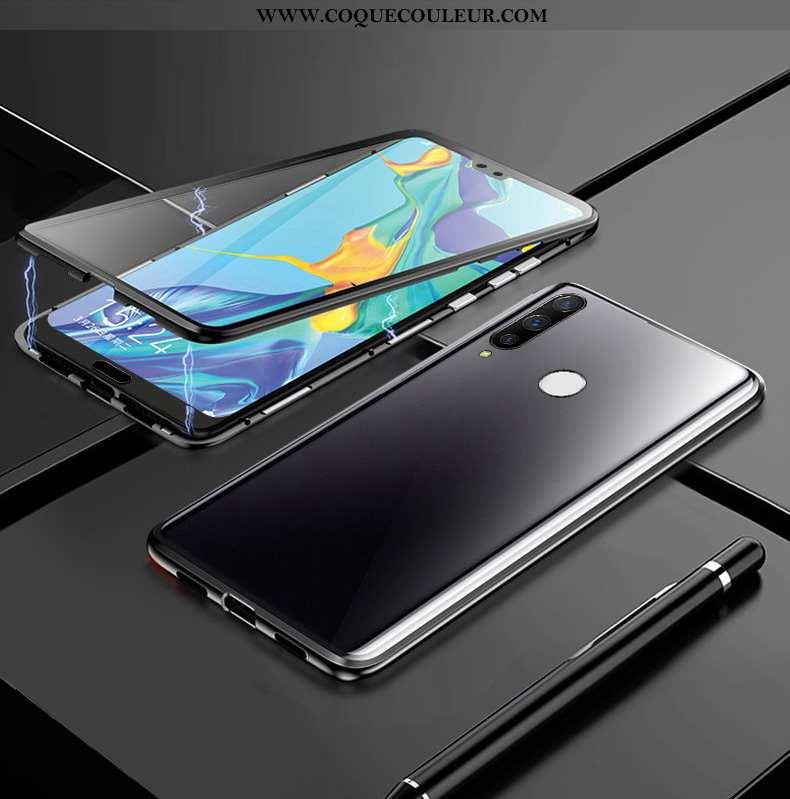 Housse Huawei P30 Lite Xl Protection Ultra Reversible, Étui Huawei P30 Lite Xl Métal Noir