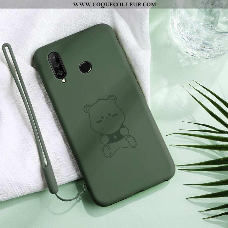 Coque Huawei P30 Lite Xl Ultra Simple Créatif, Housse Huawei P30 Lite Xl Tendance Verte