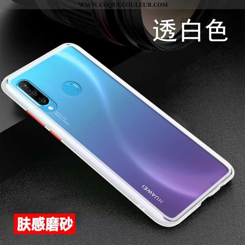 Étui Huawei P30 Lite Xl Ultra Délavé En Daim Créatif, Coque Huawei P30 Lite Xl Tendance Blanche