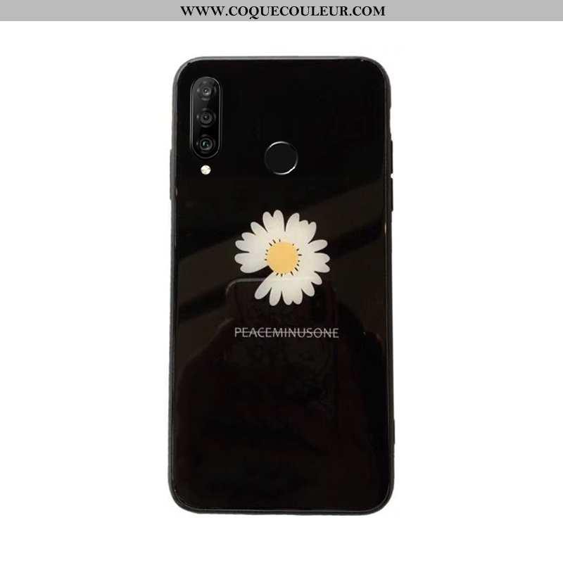 Étui Huawei P30 Lite Xl Silicone Incassable Net Rouge, Coque Huawei P30 Lite Xl Verre Noir