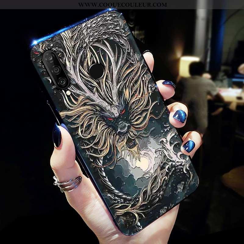 Étui Huawei P30 Lite Xl Personnalité Délavé En Daim Téléphone Portable, Coque Huawei P30 Lite Xl Cré