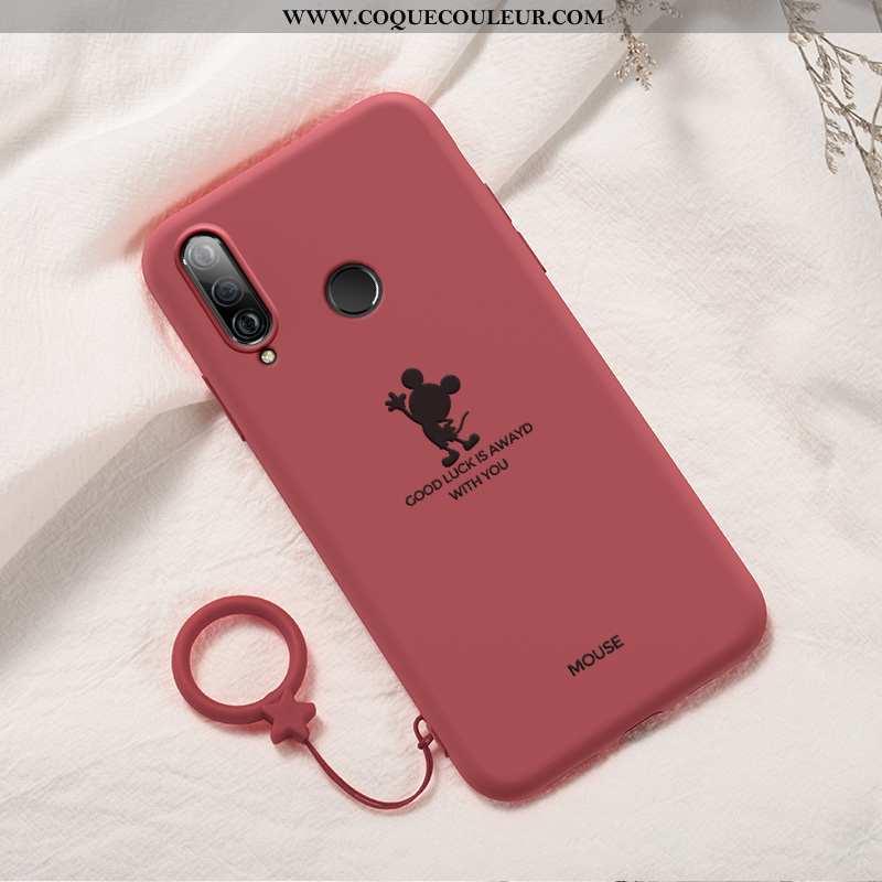 Étui Huawei P30 Lite Xl Protection Rouge Net Rouge, Coque Huawei P30 Lite Xl Personnalité Tendance