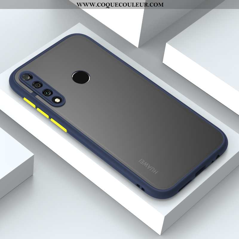 Housse Huawei P30 Lite Xl Fluide Doux Coque Charmant, Étui Huawei P30 Lite Xl Silicone Clair Bleu Fo