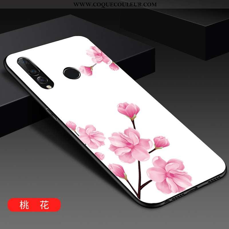 Housse Huawei P30 Lite Xl Tendance Coque Verre, Étui Huawei P30 Lite Xl Mode Blanc Blanche