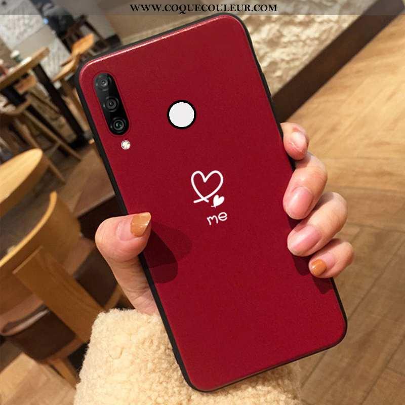 Housse Huawei P30 Lite Xl Tendance Amour Vin Rouge, Étui Huawei P30 Lite Xl Fluide Doux Amoureux Bor