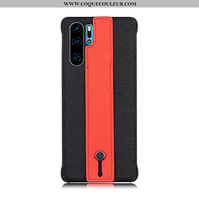 Étui Huawei P30 Pro Tendance Housse Authentique, Coque Huawei P30 Pro Protection Luxe Noir