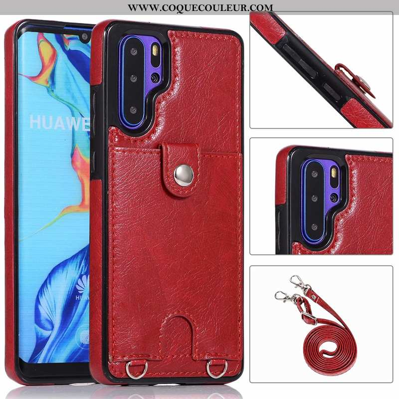 Coque Huawei P30 Pro Protection Vin Rouge Étui, Housse Huawei P30 Pro Ornements Suspendus Fluide Dou
