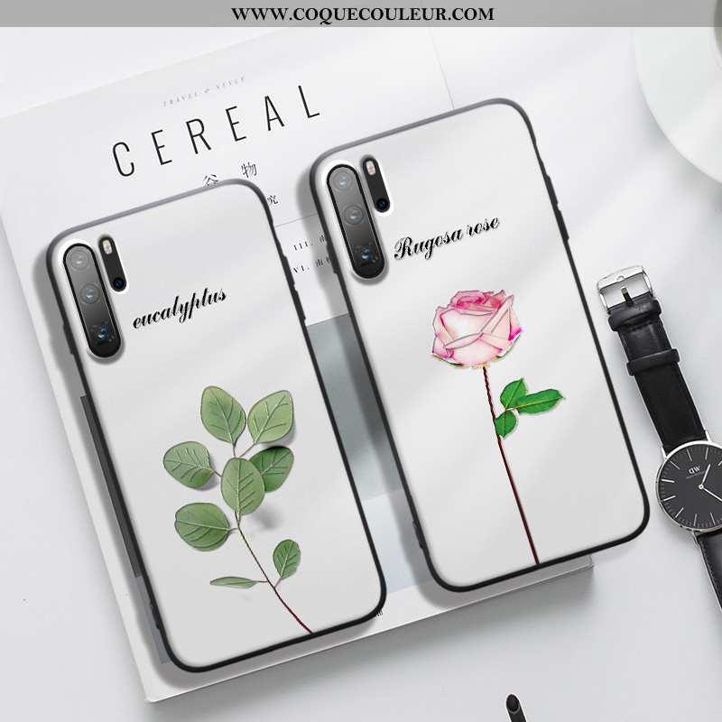 Coque Huawei P30 Pro Fluide Doux Incassable Art, Housse Huawei P30 Pro Silicone Délavé En Daim Verte