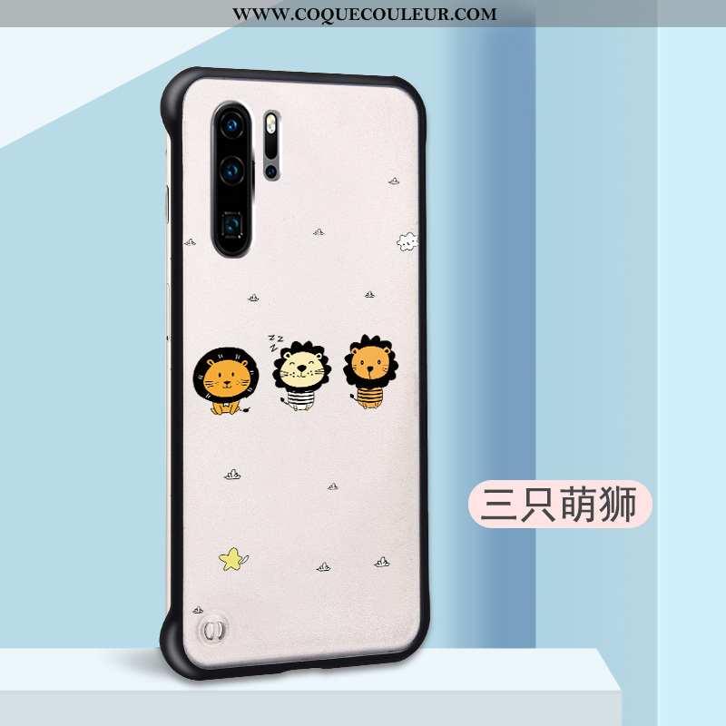 Housse Huawei P30 Pro Personnalité Légère Délavé En Daim, Étui Huawei P30 Pro Dessin Animé Incassabl