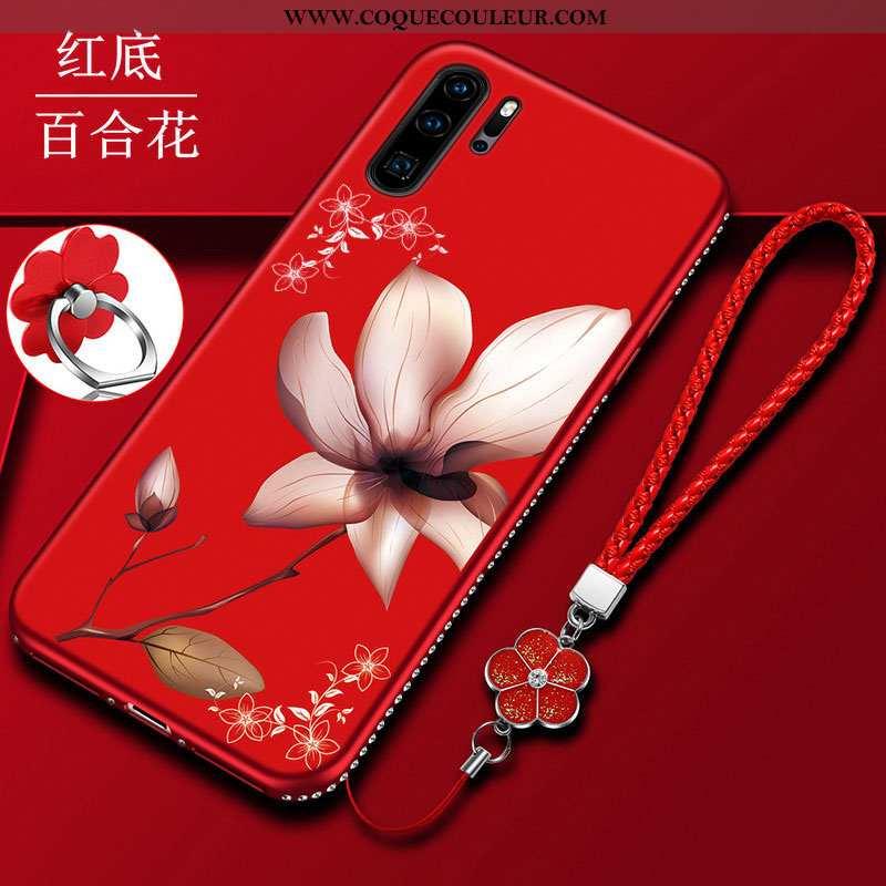 Étui Huawei P30 Pro Délavé En Daim Tout Compris Protection, Coque Huawei P30 Pro Fluide Doux Télépho