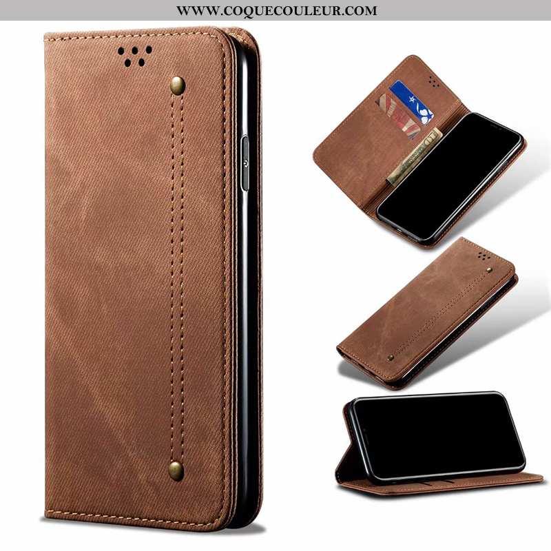 Housse Huawei P30 Pro Protection Étui Téléphone Portable, Huawei P30 Pro Cuir Clamshell Marron