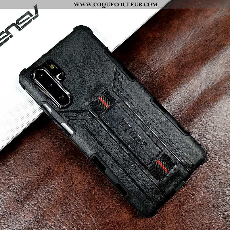 Housse Huawei P30 Pro Protection Coque Tendance, Étui Huawei P30 Pro Créatif Téléphone Portable Noir